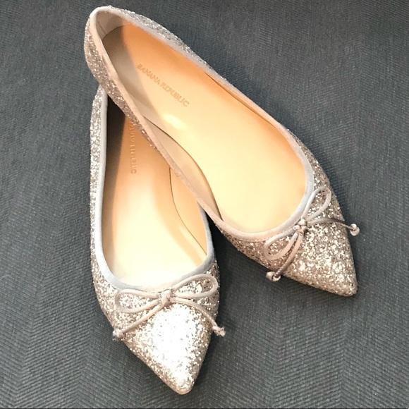 51e3c54666cb Banana Republic Shoes - Banana Republic Sparkle Ballet Flats